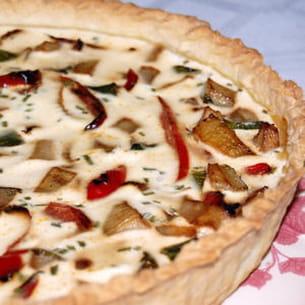 tarte aux fenouils, poivrons et courgettes