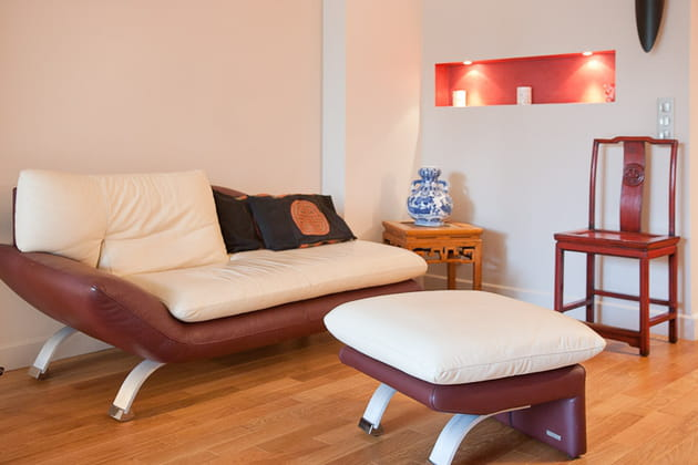 Petit loft zen : coin salon