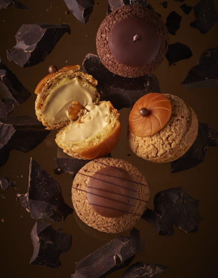 Choux chocolatés de Popelini