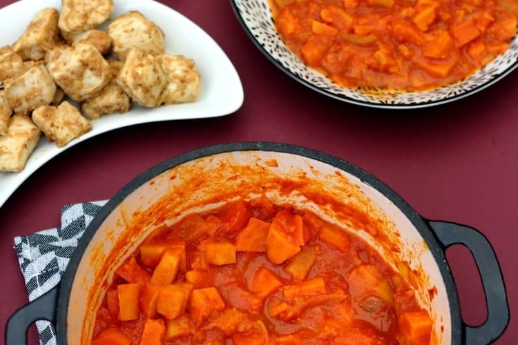 Curry de patate douce, panais et carotte, au lait de coco