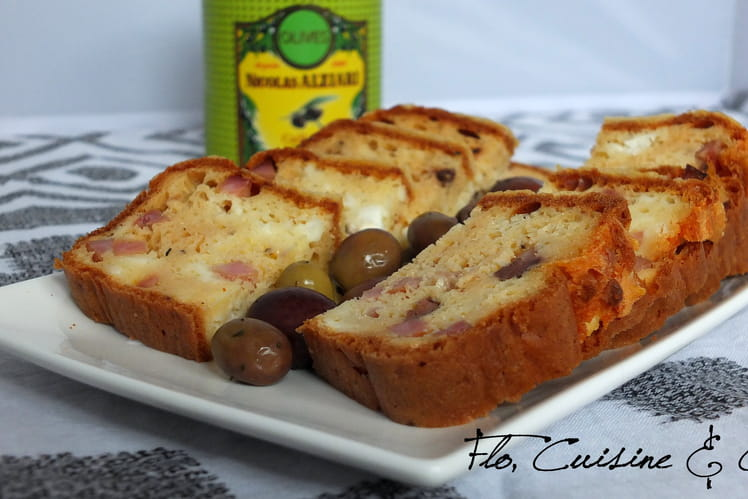 Cake Jambon Feta Olives