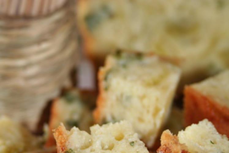 Cake au persil et aux ravioles de Romans