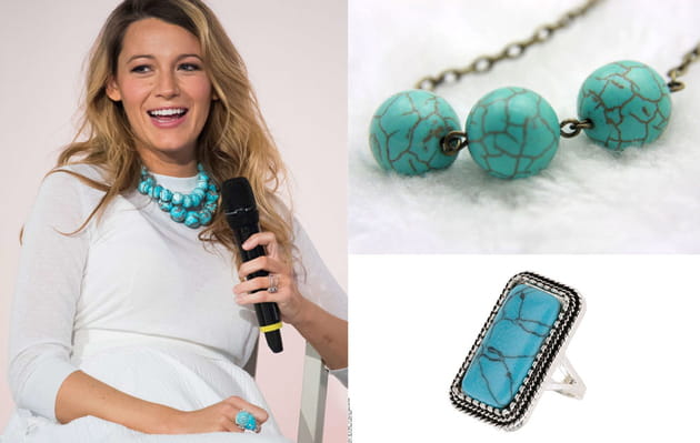 Blake Lively : des bijoux turquoises