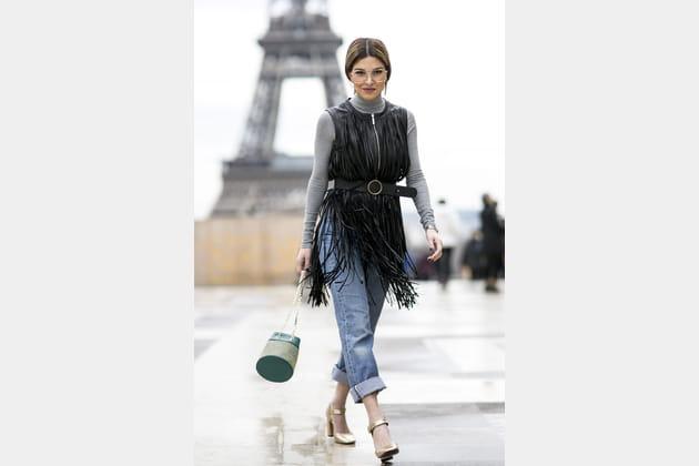 Street style à Paris : les franges street