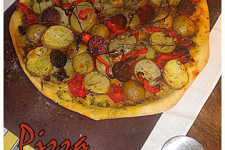 Pizza épicée aux pommes de terre