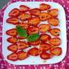 11 carpaccio de fraises au vinaigre de cidre curcuma christelle capitaine