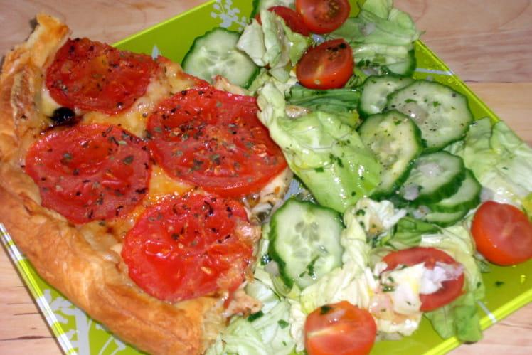 Tarte au comté et aux tomates