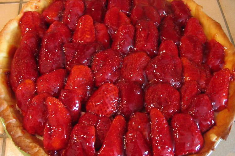 Tarte pâtissière aux fraises