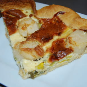 quiche aux noix de saint-jacques