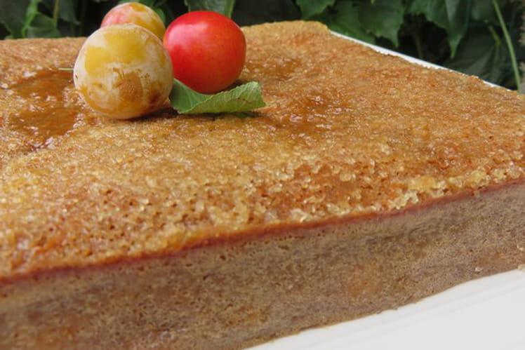 Gâteau caramélisé aux mirabelles