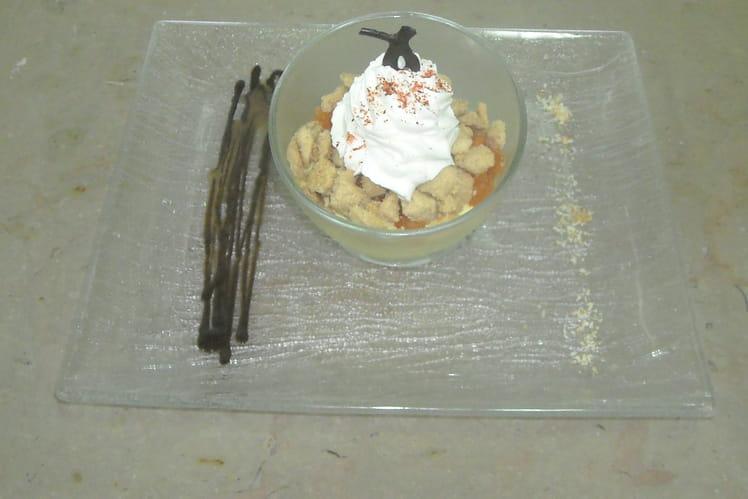 Crumble mangue et poivron version 2009