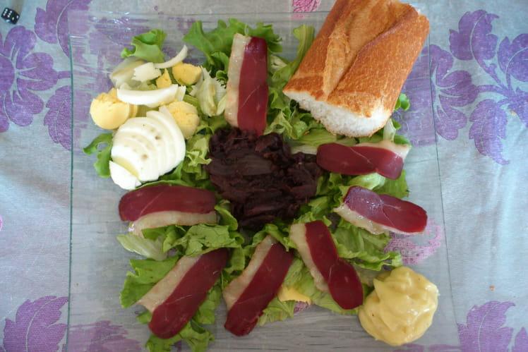 Sandwich à l'assiette