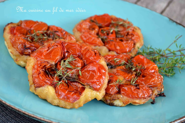 Tartelettes tomates-mozzarella