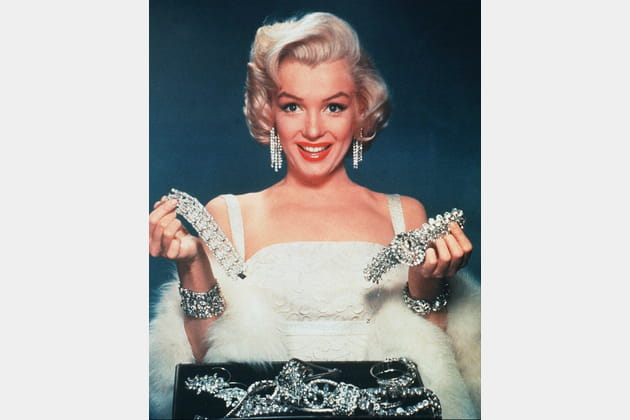 """En 1953 dans """"Les hommes préfèrent les blondes"""""""