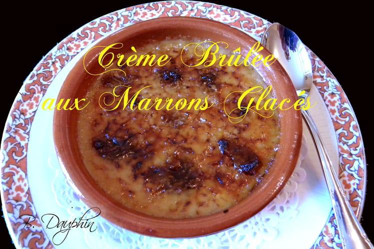 Crème brûlée aux marrons glacés