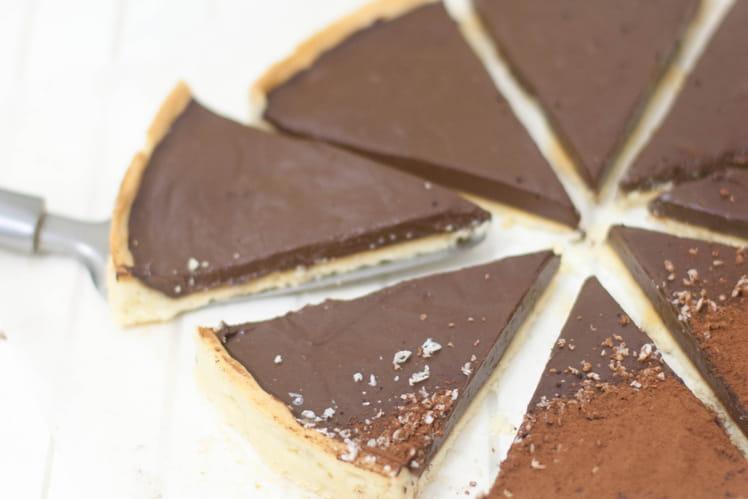 Tarte au chocolat et à la vanille