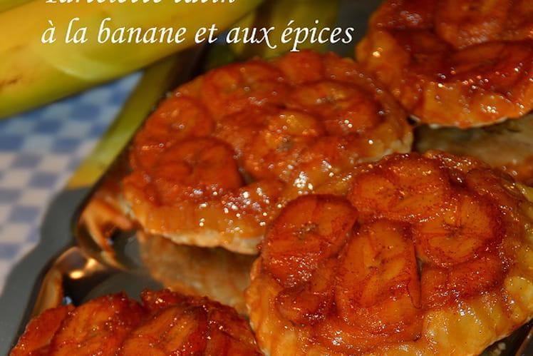 Tartelette tatin à la banane et aux épices