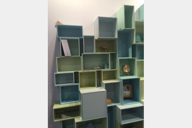 Les étagères modulables de Cubit