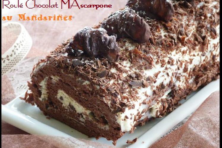 Roulé Chocolat - Mascarpone au Mandarines