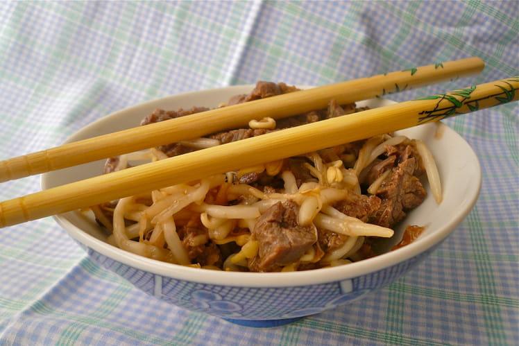 Boeuf sauté sauce soja et gingembre