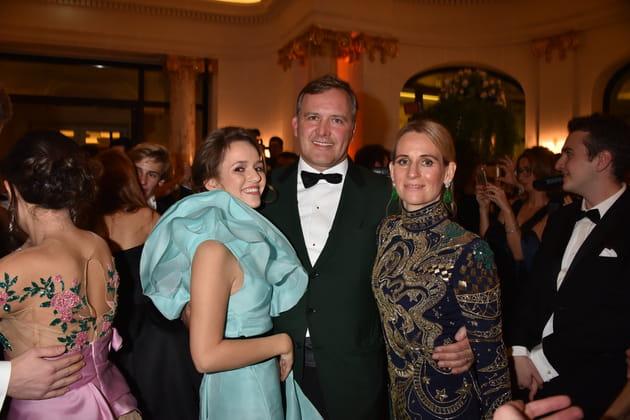 Princesse Emilia von Auersperg-Breunner et ses parents
