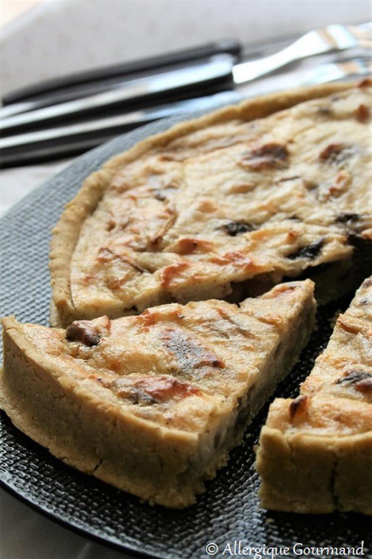 recette de tarte pesto chignons ricotta bio sans