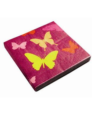les serviettes en papier 'papillon' de gifi