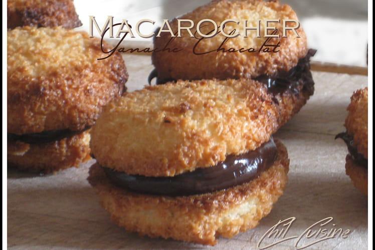 Macarons rochers à la ganache chocolat