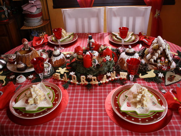Table de Noël gourmande