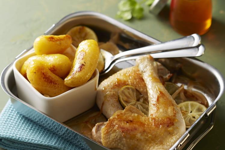 Ratte du Touquet au miel et au poulet