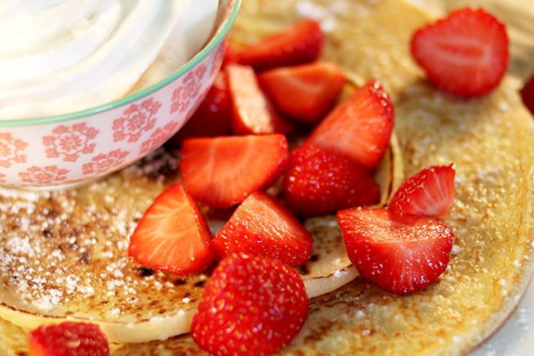 Pancake Hollandais fraises et chantilly