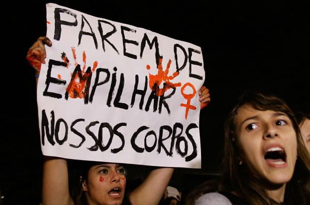 Manifestation contre les violences sexuelles à São Paulo