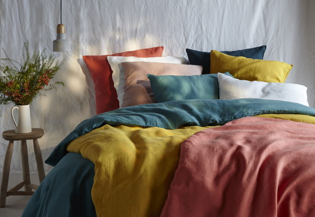 Linge de lit en lin Bouchara