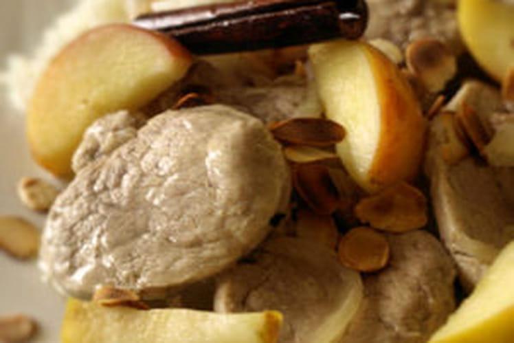Filet mignon aux pommes et à la cannelle