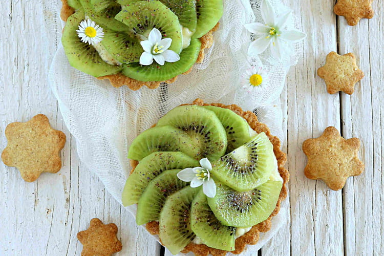 Tartelette au kiwi à la crème pâtissière