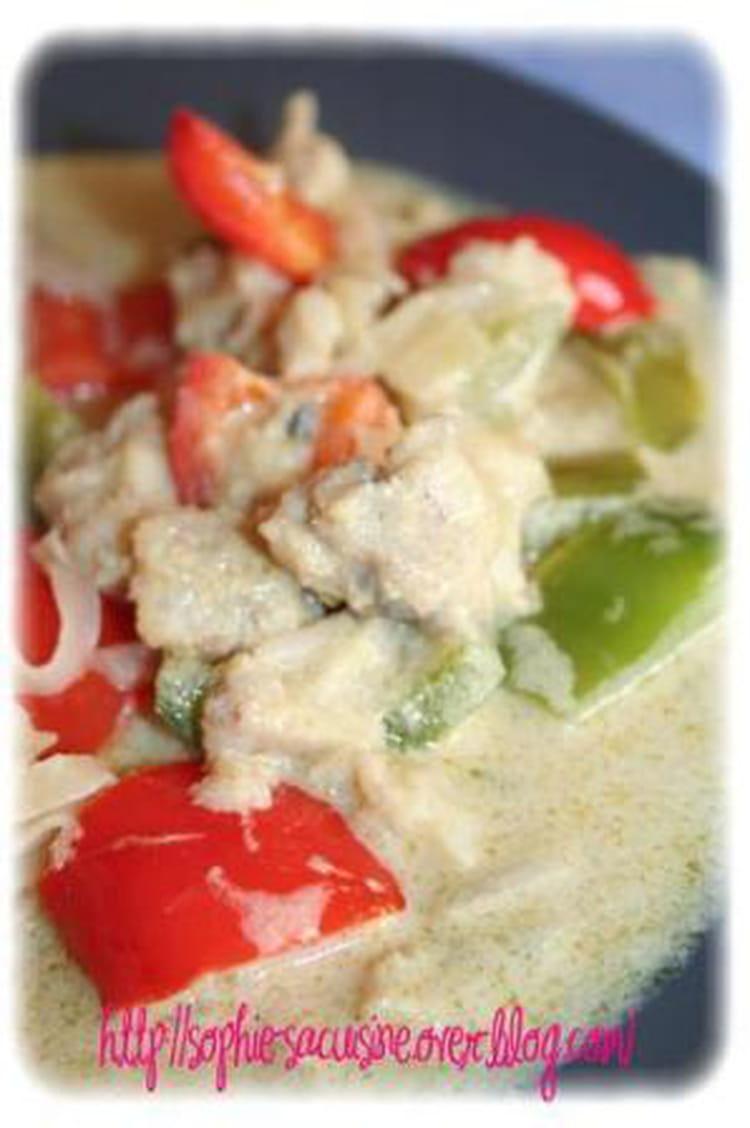 Recette de deux poivrons et poisson blanc au curry vert - Cuisiner poisson blanc ...