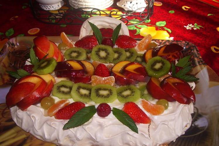 Panier de fruits meringué