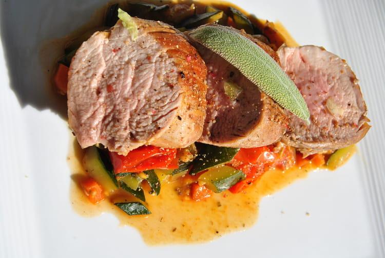 Recette de filet mignon de porc aux l gumes la recette - Cuisiner filet mignon de porc ...
