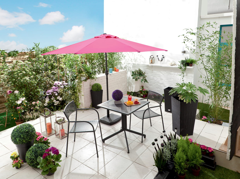 salon de jardin saria chez conforama. Black Bedroom Furniture Sets. Home Design Ideas