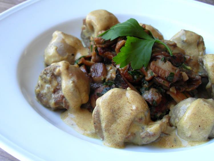 Recette de rognons de veau aux c pes la recette facile - Cuisiner rognons de veau ...