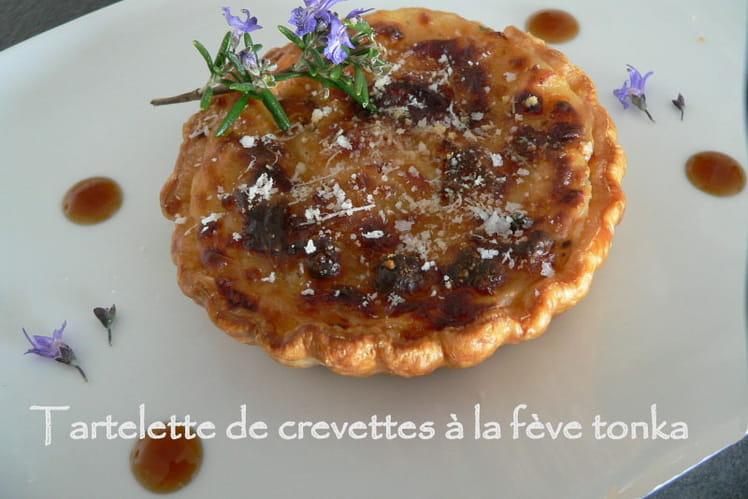 Tartelette de crevettes à la fève tonka