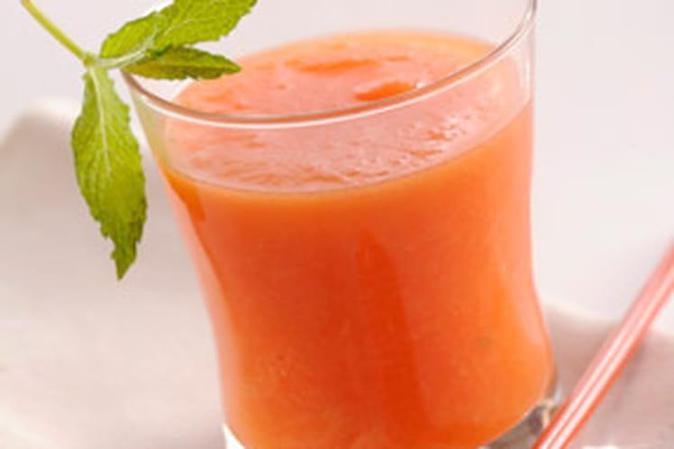 Verrines de Gaspacho de melon