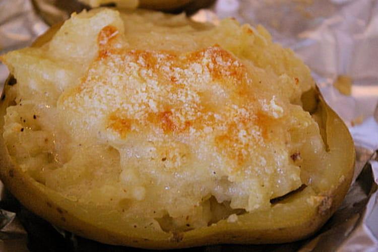 Pommes de terre farcies à la faisselle