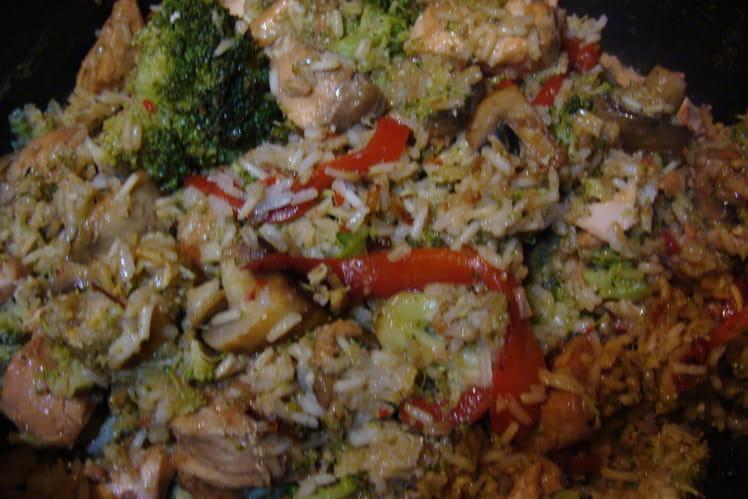 Saumon mariné au soja et ses petits légumes
