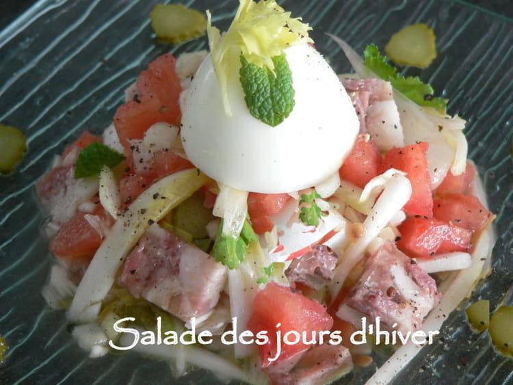 Recette de salade des jours d 39 hiver la recette facile - Salade d hiver variete ...
