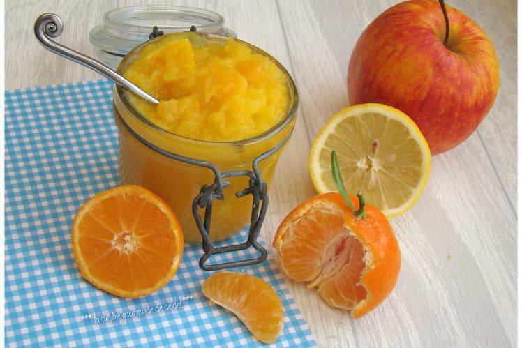 Compote de pomme, mandarine et citron