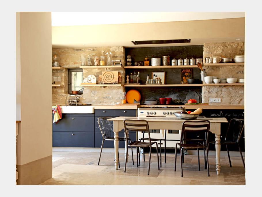 Peinture ardoise pour la cuisine la cuisine de vos r ves est ici journa - Peinture ardoise cuisine ...