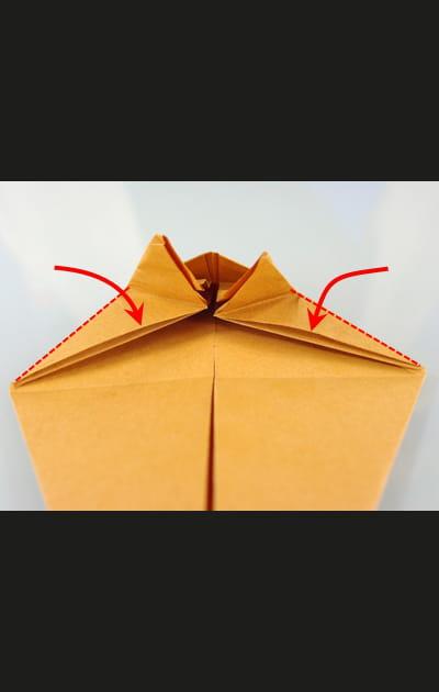Origami chat - Etape 16