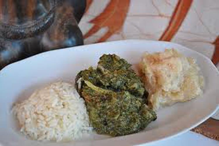 Saka saka, feuilles de manioc