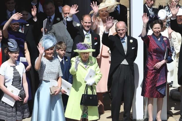 La famille royale salue ses sujets